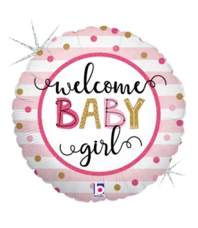 "26135P - Baby Girl Stripes (18"")"